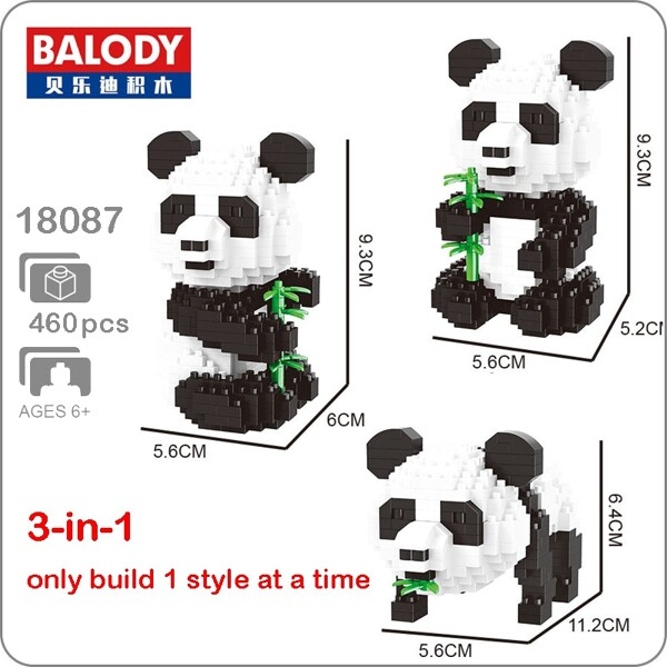 Balody 18087 3-in-1 Medium Panda