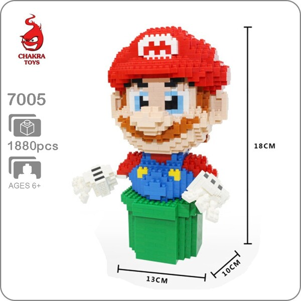 Balody 7005 Large Red Super Mario Plumber