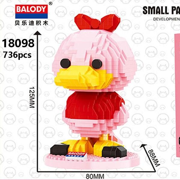 Balody 18098 Large Pink Cartoon Duck