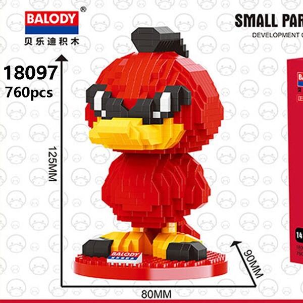 Balody 18097 Large Red Cartoon Duck