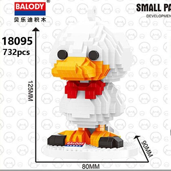 Balody 18095 Large White Cartoon Duck