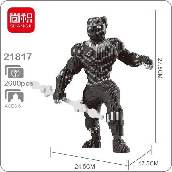 Balody 21817 Avengers Black Panther X Size