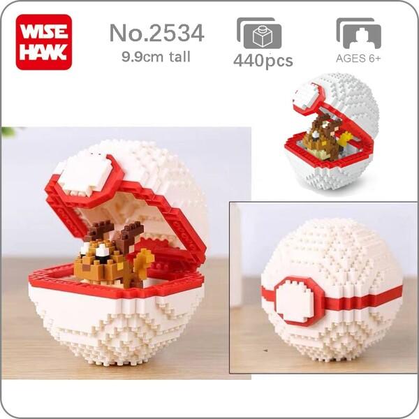 Balody 2534 Medium Pocket Raichu Monster White Ball