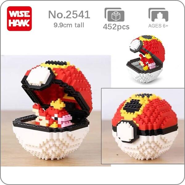Balody 2541 Medium Pocket Monster Magikarp Red Repeat Ball