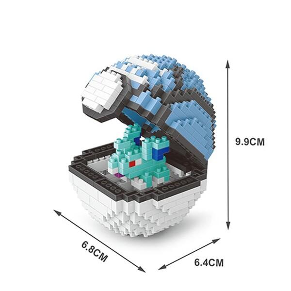 Balody 2540 Medium Pocket Nidoran Monster Blue Net Ball