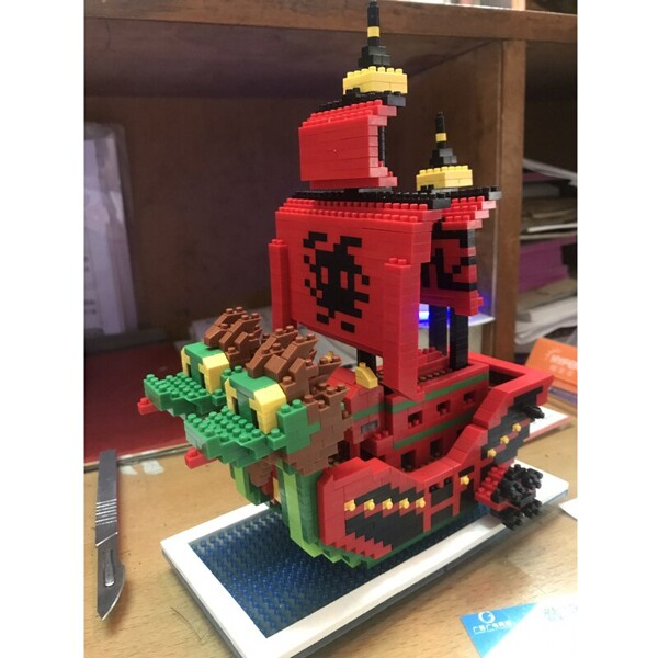 ZMS 3447 Large One Piece Nine Snake Pirates Ship