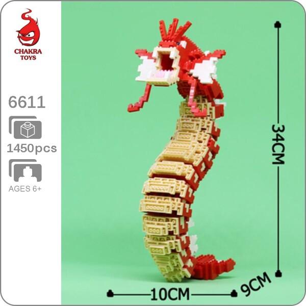 CHAKRA 6611 Large Pokémon Red Gyarados