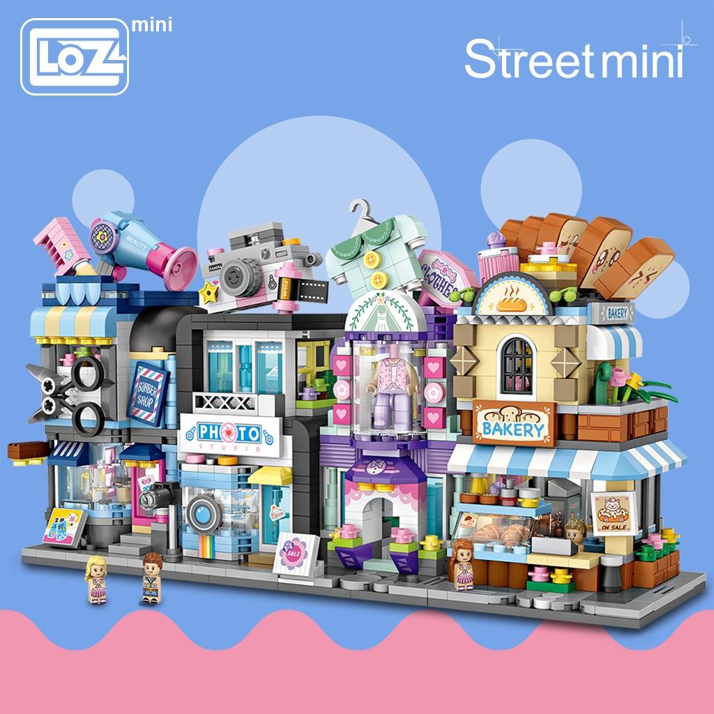 LOZ 1645 1646 1647 1648 Street Store Bundle Mini Bricks
