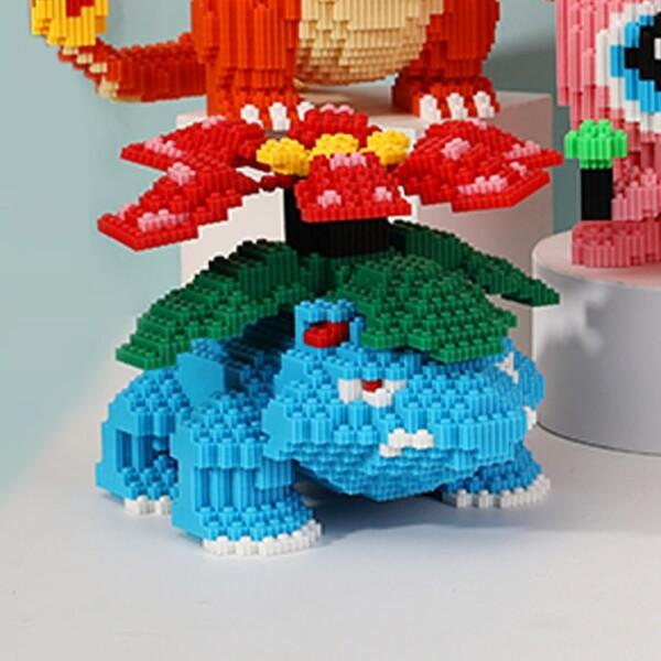 DUZ 8666 Venusaur Frog Pocket Monster Mini Bricks