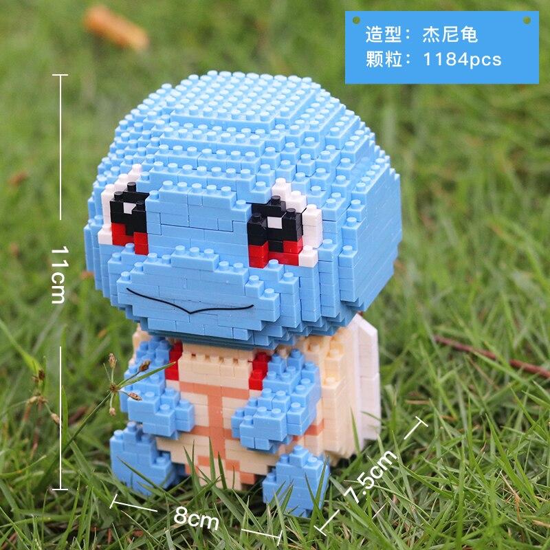 HC 9104 Squirtle Pocket Monster Sit Mini Bricks