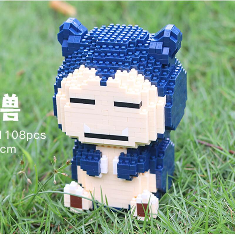 HC 9103 Snorlax Pocket Monster Sit Mini Bricks