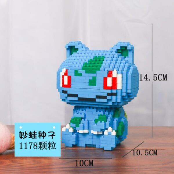 HC 9105 Bulbasaur Pocket Monster Sit Mini Bricks