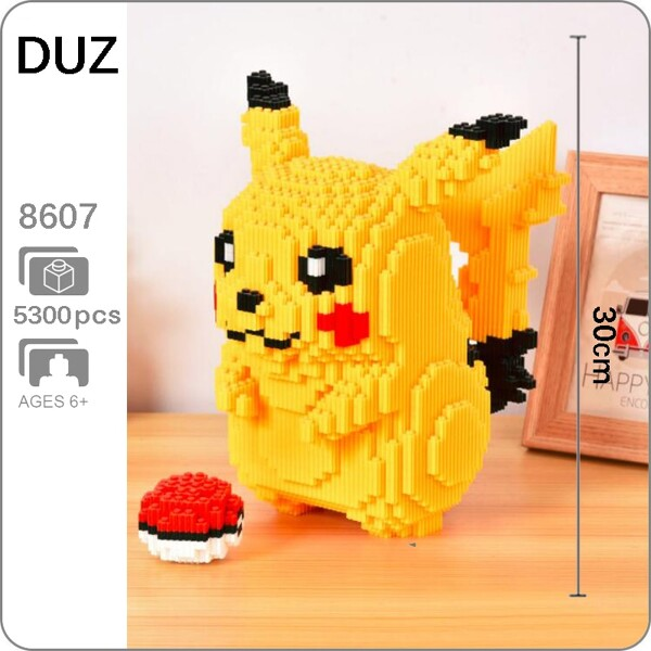 DUZ 8607 Pikachu Pocket Monster Mini Bricks