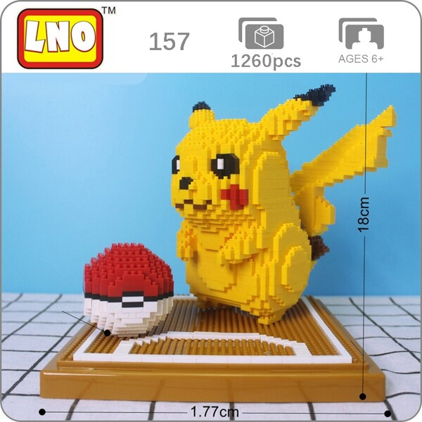 LNO 157 Pikachu Pocket Ball Mini Bricks