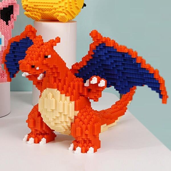 DUZ 8665 Charizard Dragon Pocket Monster Mini Bricks