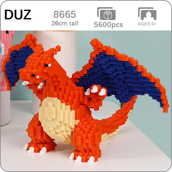 DUZ 8665 Charizard Dragon Pocket Monster Mini Bricks