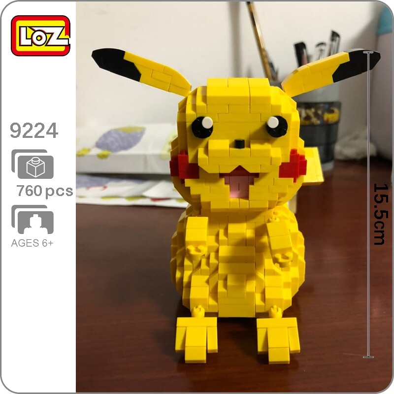 LOZ 9224 Pikachu Pocket Monster Mini Bricks