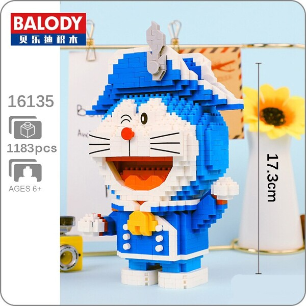 BALODY 16135 Doraemonl Soldier Winter Mini Bricks