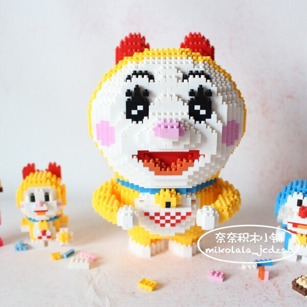 BOYU 7097 Doraemon Hold Dorayaki Mini Bricks