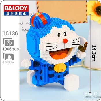 BALODY 16136 16137 Doraemon Around The World Series Mini Bricks