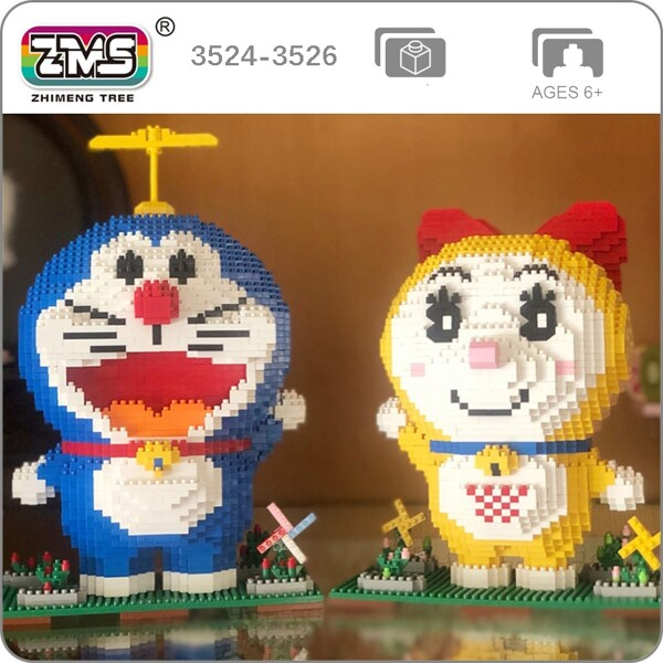 ZMS 3524 3525 3526 Doraemon Series Bundle Mini Bricks