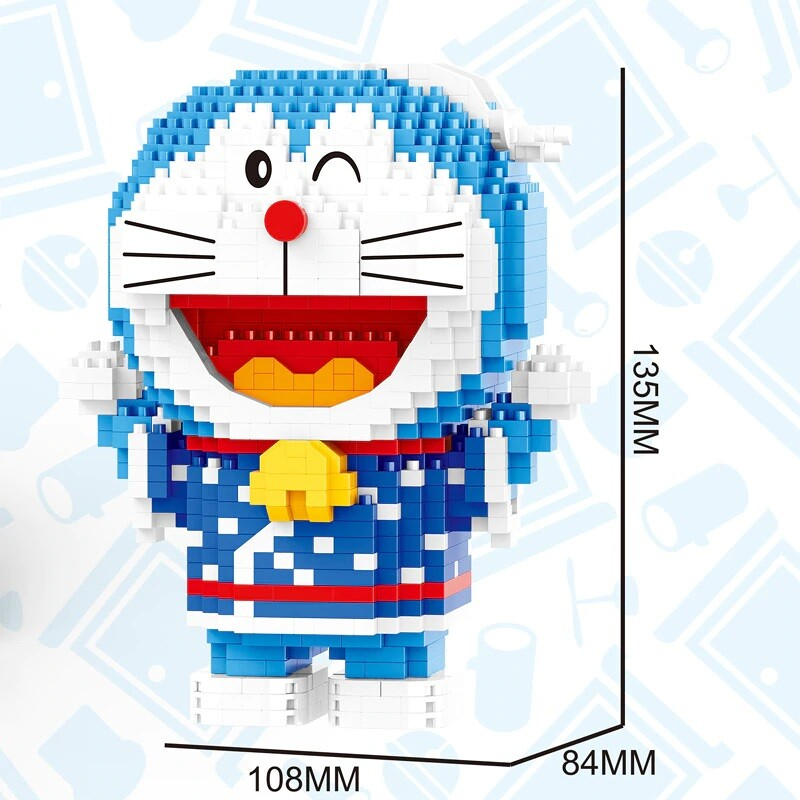 BALODY 16136 16137 Doraemon Around The World Series Mini Bricks