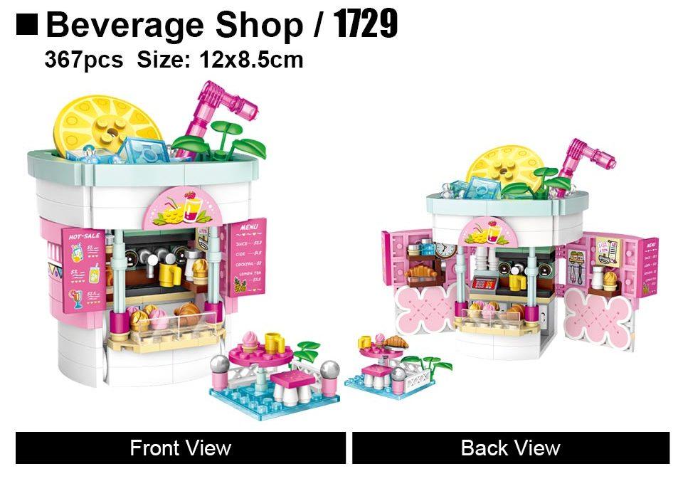 LOZ 1729 Beverage Shop Building Blocks