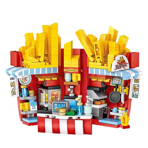 LOZ 1732 French Fries Shop Building Blocks