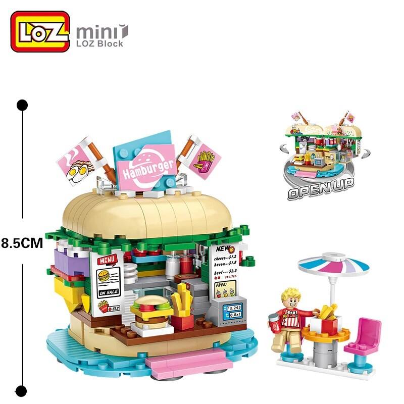 LOZ 1730 Burger Shop Building Blocks