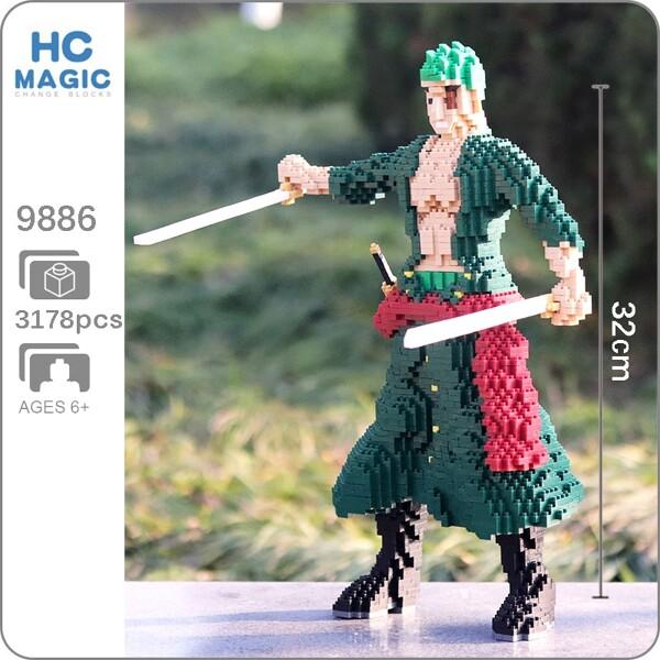 HC 9886 Roronoa Zoro One Piece Brickheadz