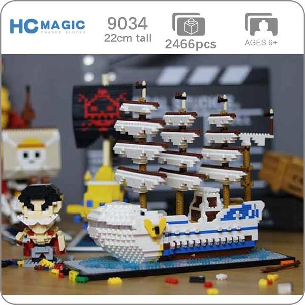 HC 9034 Whitebeard Pirate Ship Boat One Piece Brickheadz