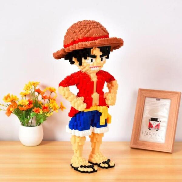 XIZAI 8606 Monkey D Luffy One Piece Brickheadz
