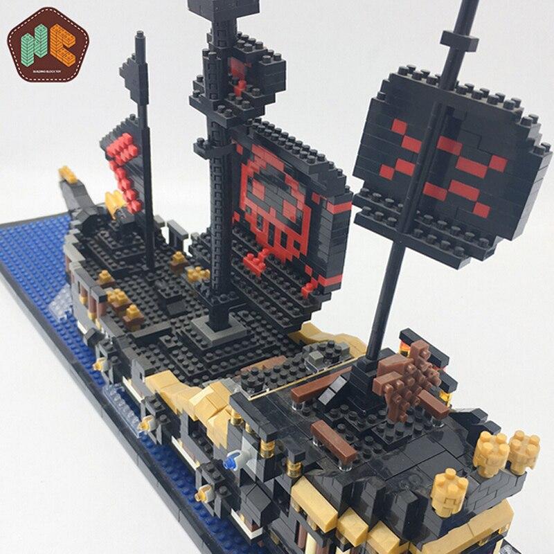 HC 9033 Black Pearl Pirate Ship Boat One Piece Brickheadz