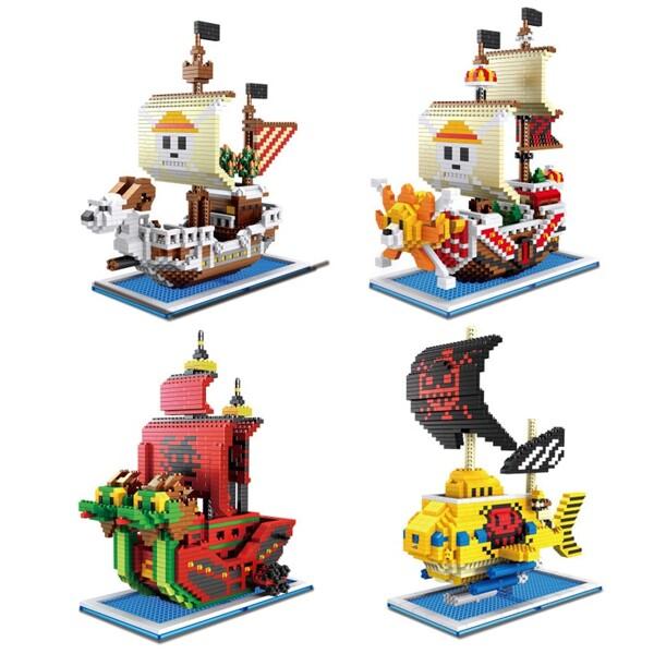 ZMS 3445 3446 3447 3448 One Piece Pirate Ship Series Bundle Brickheadz