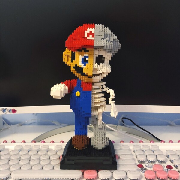 ZRK 7807 Super Mario Red Mario Dissection Skeleton Brickheadz
