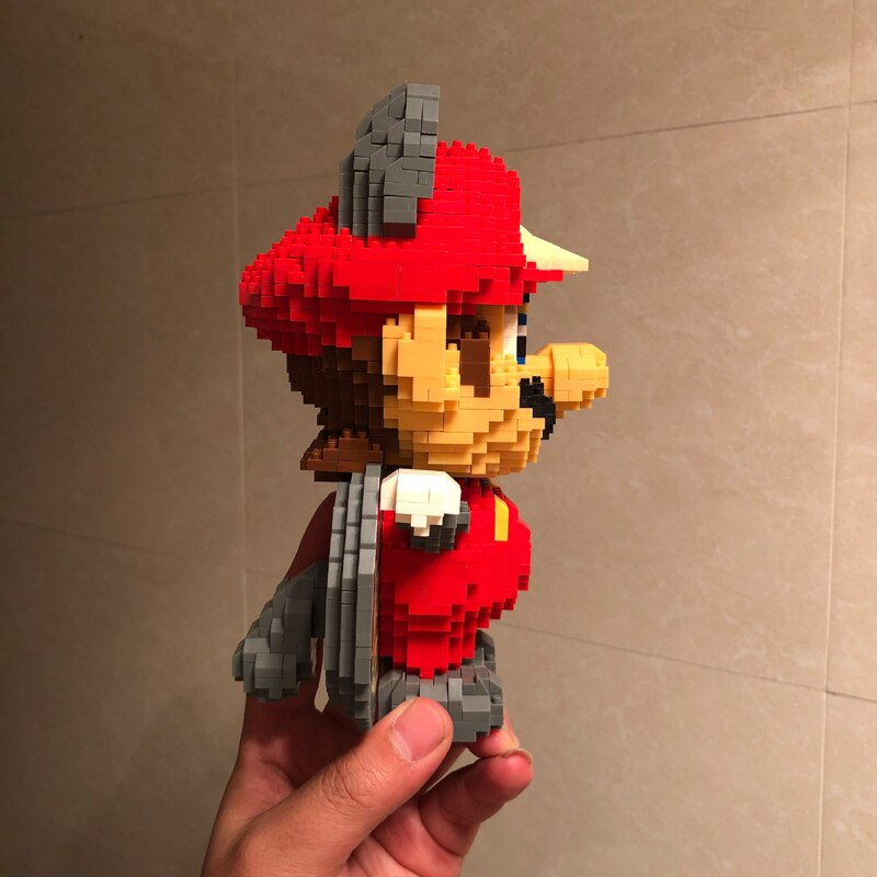 WISEHAWK 2498 Super Mario Flying Squirrel Raccoon Mario Brickheadz