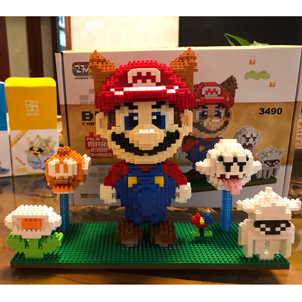 ZMS 3490 Super Mario Tanooki Mario And Ghost Brickheadz