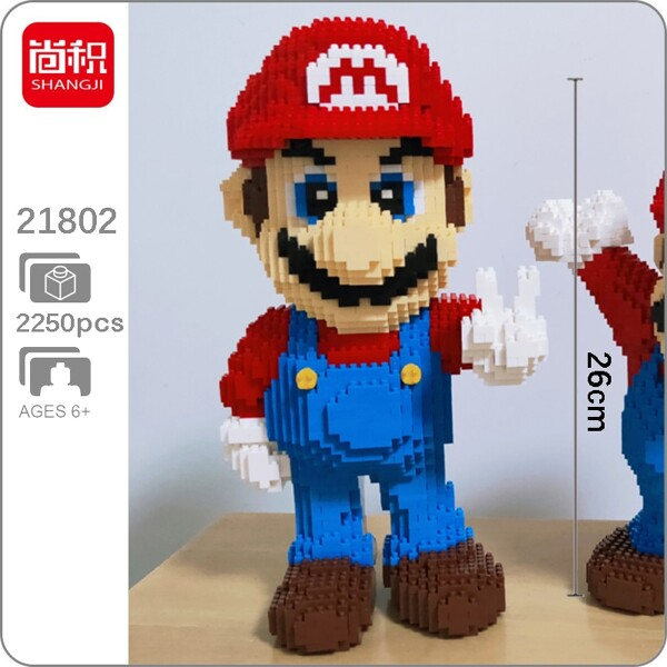 SHANGJI 21802 Super Mario Victory Mario Brickheadz