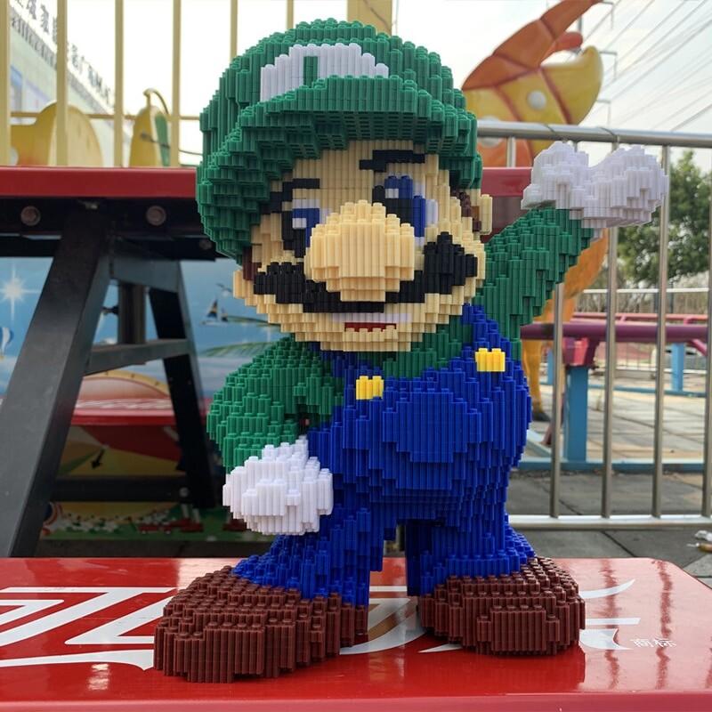 DUZ 8643 Super Mario Big Luigi Wave Brickheadz