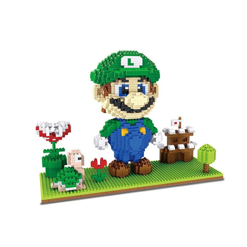 HC 1031 Super Mario Luigi Castle And Goomba Brickheadz
