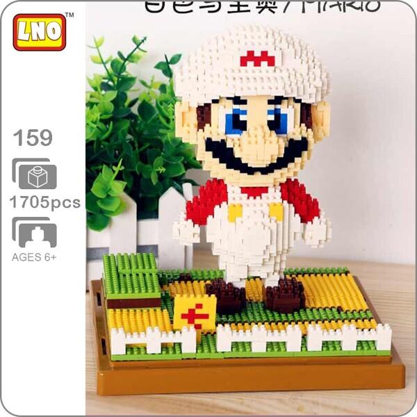 LNO 159 Super Mario White Fire Brickheadz
