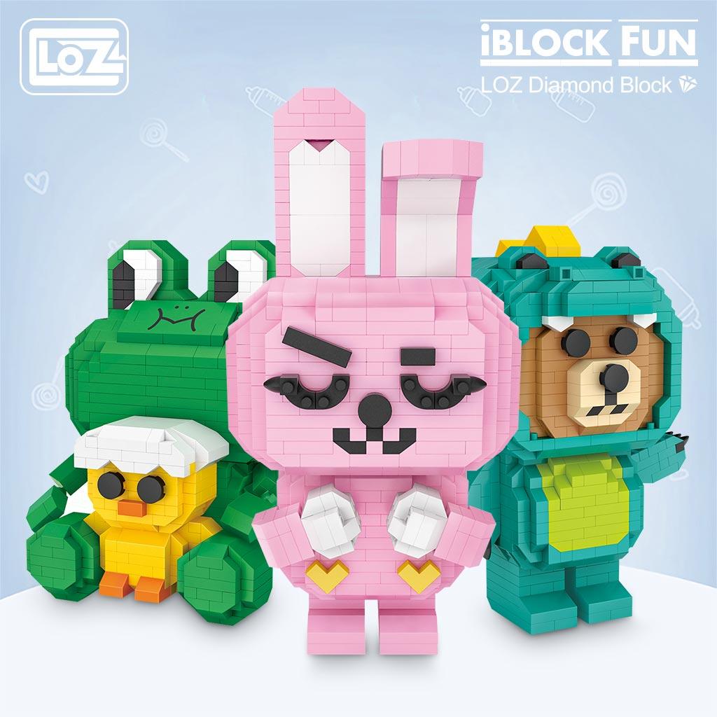 LOZ 9239 Pink Rabbit Brickheadz