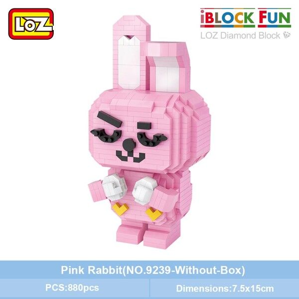 LOZ 9239 Pink Rabbit Brickheadz