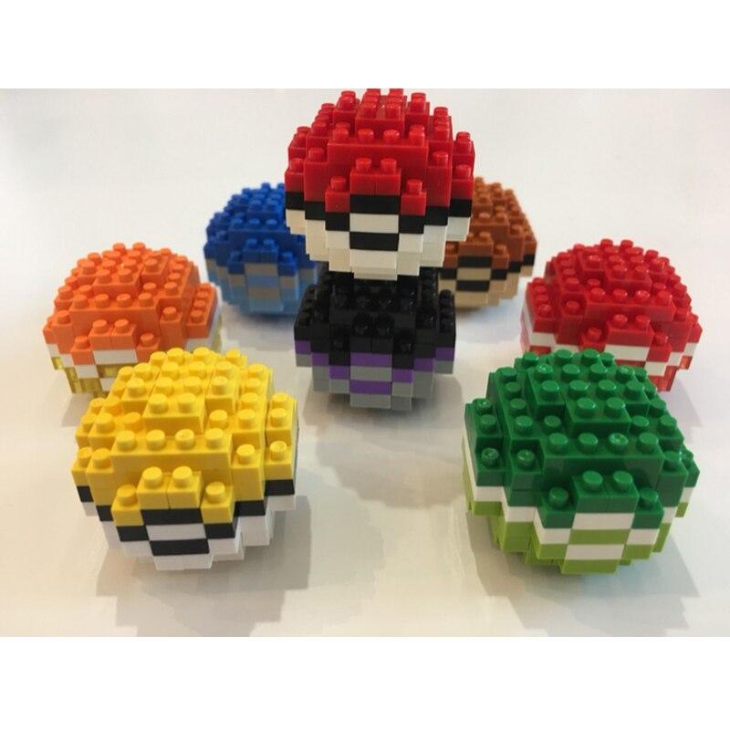 CHAKRA 9924 Pokemon Ball Set Brickheadz