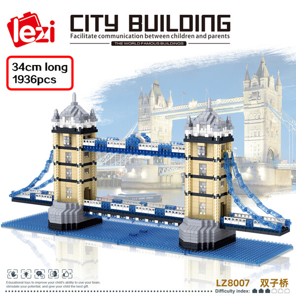 LEZI 8007 The Tower Bridge London Brickheadz