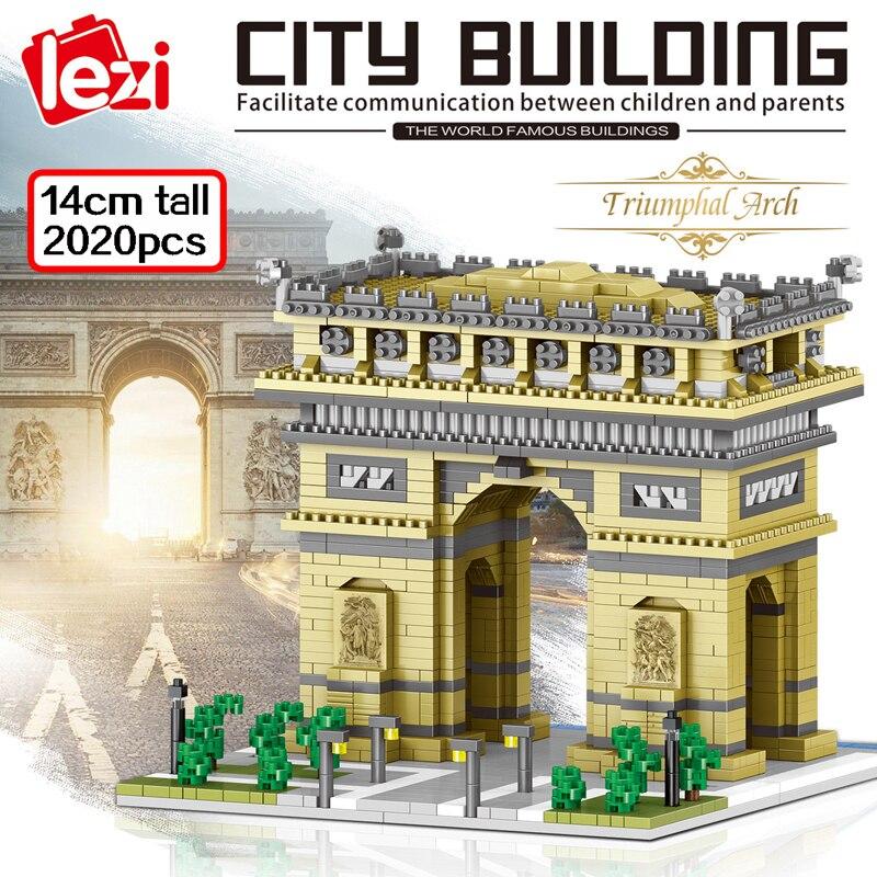 LEZI 8004 The Arc Of Triomphe Gate Brickheadz