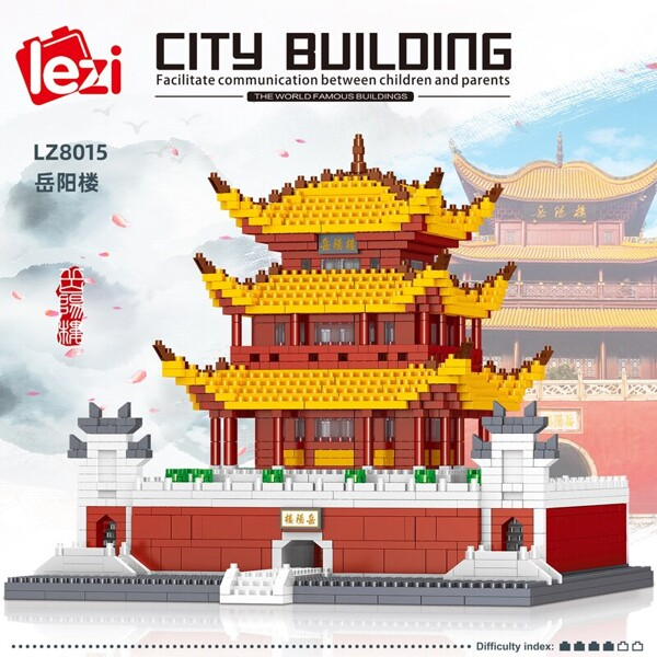 LEZI 8015 The Yueyang Tower Brickheadz