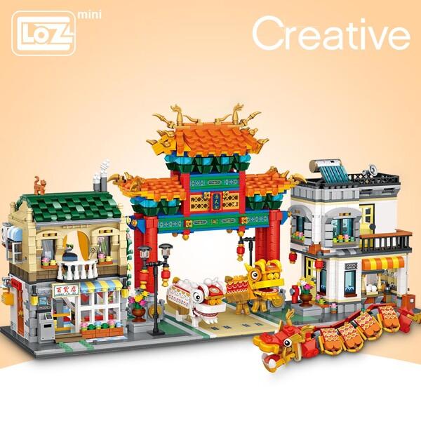 LOZ 1030 Chinatown Brickheadz