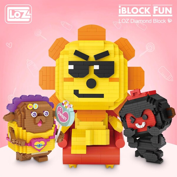 LOZ 9101-9112 Twelve Constellation Set Bundle Brickheadz