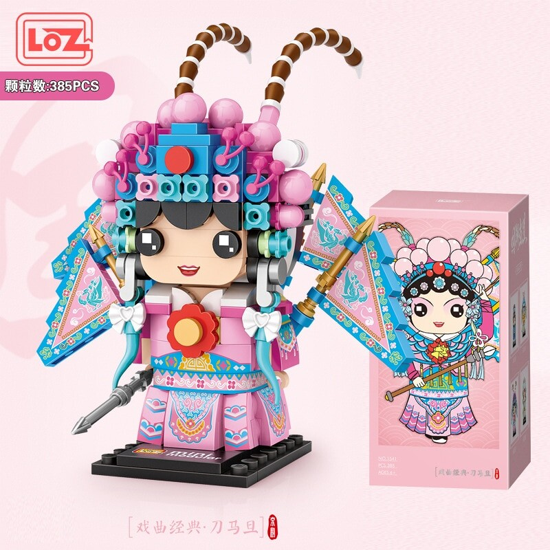 LOZ 1541-1544 GUO Chao Peking Opera MINI BLOCKS